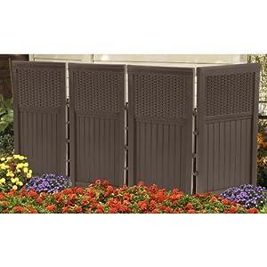 Suncast Corporation FSW4423 Wicker Rattan Enclosure Fence