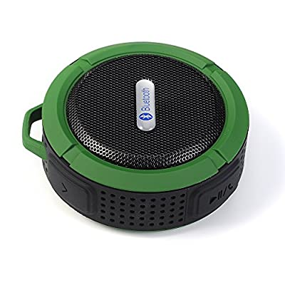 [2015 New Upgraded]VicTsing® Wireless Bluetooth 3.0 Outdoor / Shower Speaker, Handsfree Portable Speakerphone with Built-in Mic, Control Buttons and Dedicated Removable Suction Cup for Showers, Bathroom, Pool, Boat, Car, Beach, & Outdoor Use Compatible w