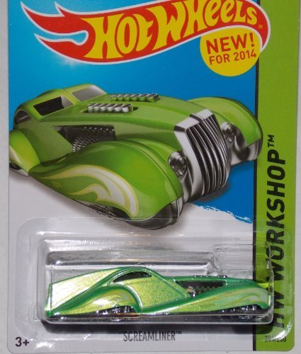 2014 Hot Wheels Screamliner Green 204/250 HW WORKSHOP HW Garage