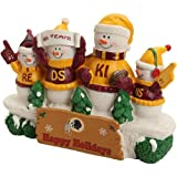 Washington Redskins Resin Snowman Bench Statue