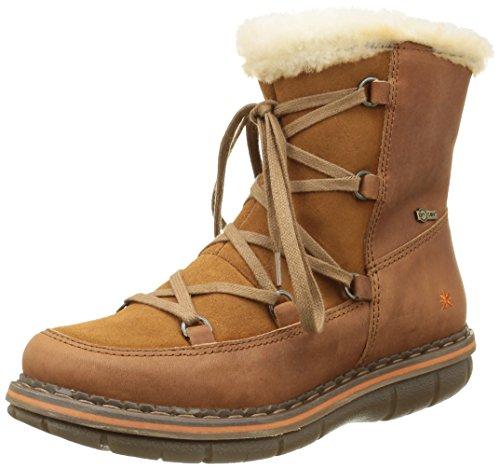 ArtAssen 435 - Stivali da neve, alla caviglia Donna , Marrone (Marrone (Cuero)), 39