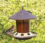 Round Edge Hanging Bird Feeder Brown