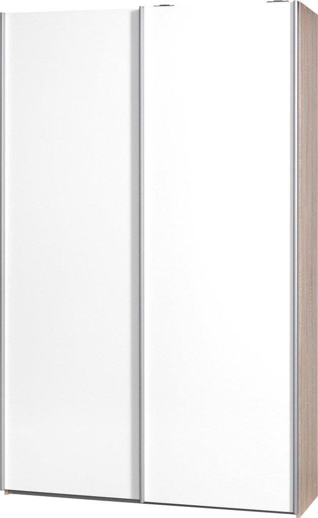 """Schwebetürenschrank """"Soft Plus Smart Typ 40"""", 120 x 194 x 42cm, Eiche/2 x Weiß"""