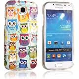 tinxi� Design Silikon Schutzh�lle f�r Samsung Galaxy S4 mini H�lle TPU Silikon R�ckschale Schutz H�lle Silicon Case mit bunte Eule Owl Muster