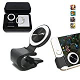 Mobile Joystick, Phone Game Rocker with Phone Ring Holder Touch Screen Joypad for iphone / ipad / Smart Phones / Tablet (Silver)