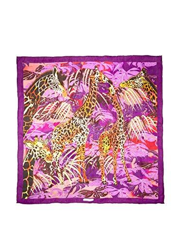 Salvatore Ferragamo Women's Silk Scarf, Purple