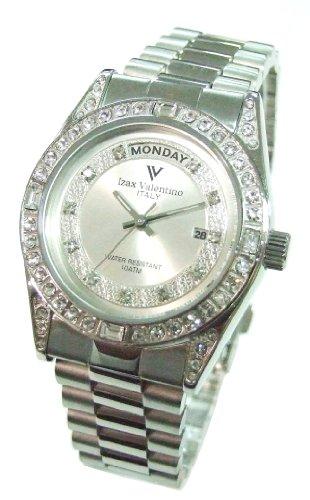 [アイザックバレンチノ]Izax Valentino 腕時計 アナログ表示 日付表示 曜日表示 シルバー IVG-1000-5 メンズ