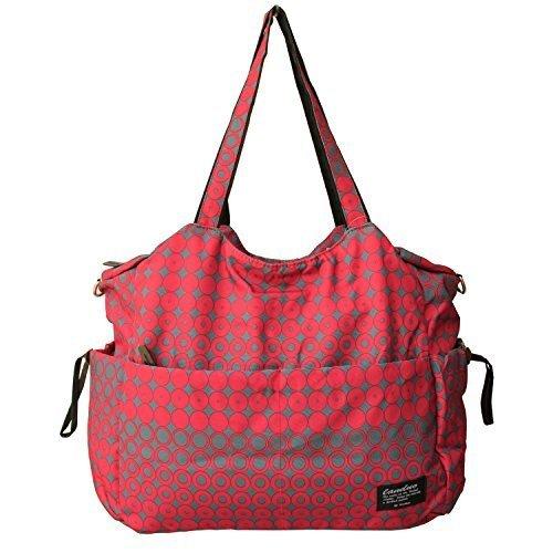 Damai Large Diaper Tote Satchel Bag (Red)