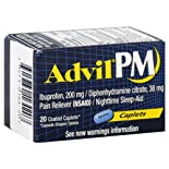 Advil PM Pain Reliever/Nighttime Sleep-Aid, Coated Caplets, 20 ct.