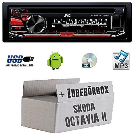 Skoda Octavia 21Z-JVC KD r471e-Kit de montage autoradio CD/MP3/USB -