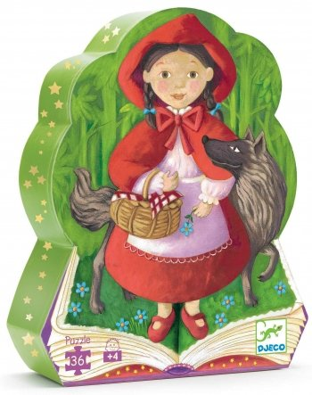 Djeco / Shaped Box Puzzle, Little Red Riding