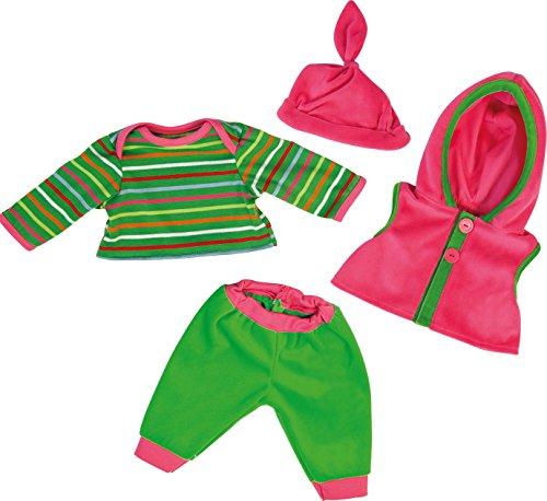 Bayer Design 84620 - Kleidung für Puppen - Shirt mit Hose und Kapuzenjacke, circa 40 - 46 cm