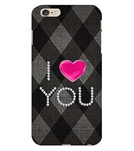 I LOVE U Designer Back Case Cover for Apple iPhone 6S Plus