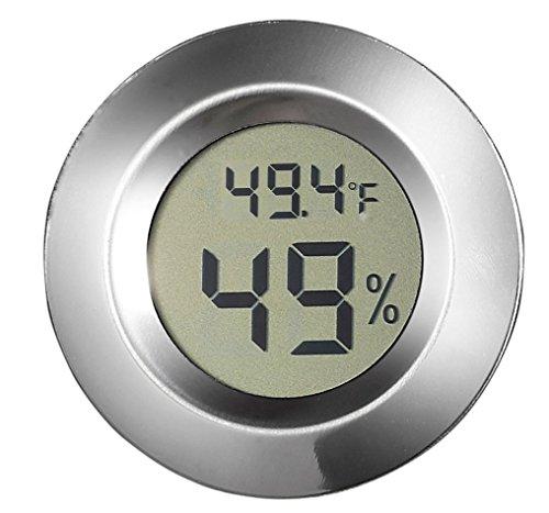 Visol Modern Small Circular Digital Hygrometer - 1