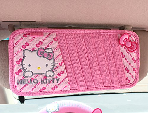 Hello-Kitty-Car-Cddvd-Folder-Cd-Clip-Butterfly-Pattern