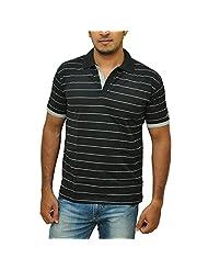 Duke Men's Stripe Value Pack Of 2 Johny Collar T-Shirt