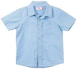 Oye Boy'S Half Sleeve Shirt - Light Blue (4-5Y)