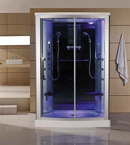 Sliding-Door-Steam-Shower-Enclosure-Unit-Glass-Color-Blue