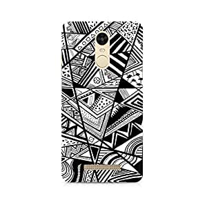 Rayite Black and White Abstrct Premium Printed Case For Xiaomi Redmi Note 3