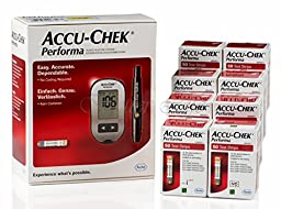 410 Accu Chek Performa Test Strips Plus Free Glucometer Kit Lancets Multiclix