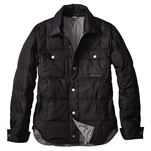 (エディー・バウアー) Eddie Bauer ダウンシャツジャケット(ブラック XL)