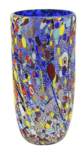 vaso-conico-arlecchino-vidrio-murano-hoja-oro-murrine-jarron-decoracion-venecia