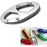 Generic 1 Pc Aluminum Alloy 8-Shaped Screw Lock Locking Clip Hook Key Chain Sports Tool
