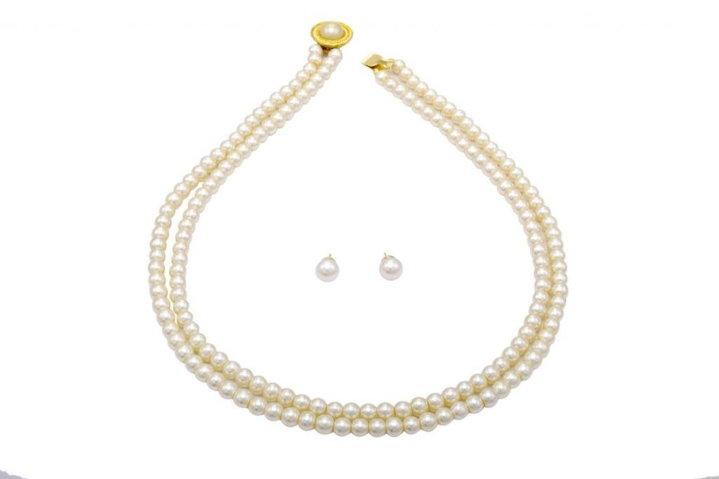 Pearlscart White pearl Multi-Strand For Women