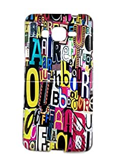 Letz Dezine Colorful Letter Printed Design Mobile Back Case Cover for Samsung Galaxy Core Plus (G350)