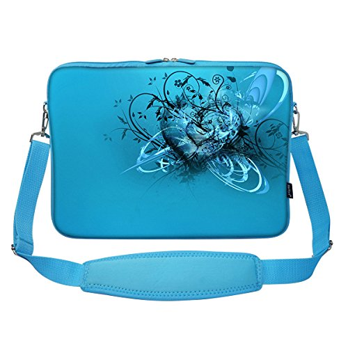 15-156-inch-blue-color-matching-neoprene-laptop-carrying-sleeve-bag-with-hidden-handle-and-shoulder-