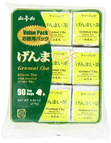 Yamamotoyama Genmai Cha Roasted Brown Rice Green Tea Value Pack, 9.86-Ounce Bag