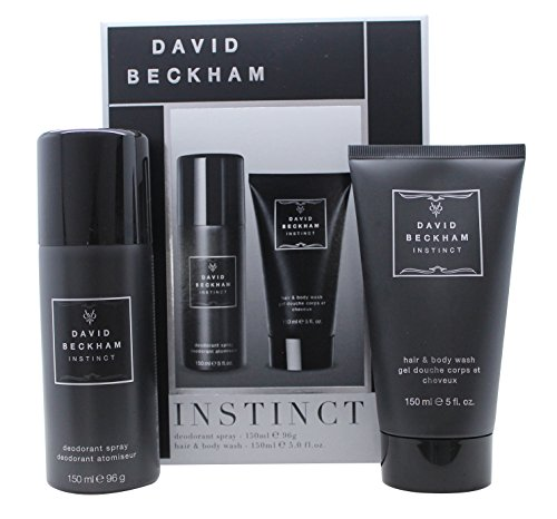 David Beckham Instinct Confezione Regalo 150ml Deodorante Spray + 150ml Hair & Body Wash