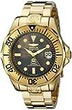 Invicta Men's 13940 Pro Diver Black Mother of Pearl Dial Gold Tone Bracelet Watch