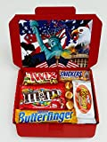 Christmas Present American Sweets Chocolate Candy Hamper Selection Box Hershey's Reese's Cup Butterfinger Baby Ruth Snickers Twix Peanut Butter M&M's RARE 3C