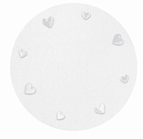 Tulle Circle White Hearts