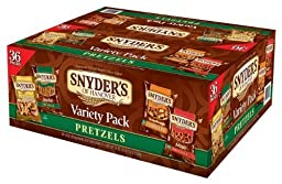 Snyder\'s of Hanover Pretzel Variety Pack, 1.5 Ounce, (Pack of 36) by Snyder\'s of Hanover