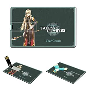 16GB USB Flash Drive USB 2.0 Memory Stick Tales of the Abyss Anime Comics Games Credit Card Size Customized Support Services Ready Tales of the Abyss Japan role playing video game Japanese Bandai manga Nintendo anime Tear Grants Luke fon Fabre (05)