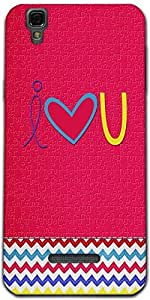 Snoogg I Love You Minimal Designer Protective Back Case Cover For Micromax Yu...