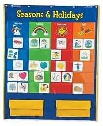 Learning Resources Seasons & Holidays Pocket Chart