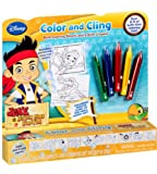 Disney Jake and the Never Land Pirates Color and Cling Bath Coloring Sheets and Bath Crayons, 6 pc