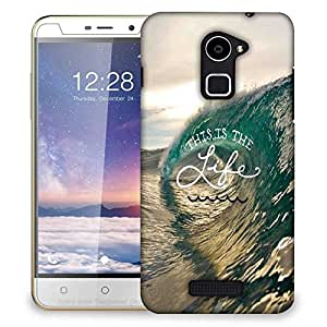 Snoogg Beach wave life Designer Protective Back Case Cover For Coolpad Note 3 Lite