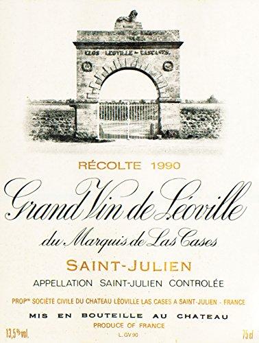 1990 Chateau Leoville Las Cases Saint-Julien Bordeaux 750 Ml