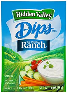 Hidden Valley Dip Mix, Original Ranch Dip, 1-Ounce Packets (Pack of 24)