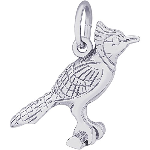 Rembrandt Charms Blue Jay Charm, Sterling Silver