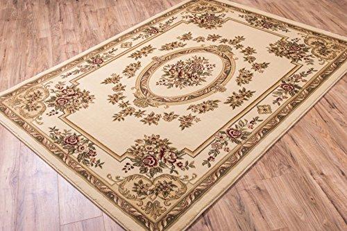 Ivory Traditional Rug, 7-Feet 10-Inch x 10-Feet 6-Inch Medallion Carpet