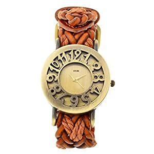 Horse Head KITCONE analog Gold Dial Women's Watch