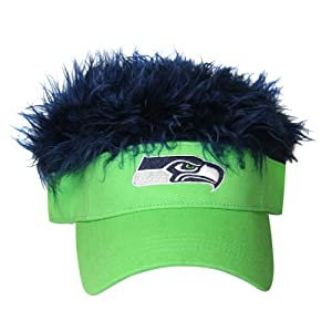 NFL Seattle Seahawks Flair Hair Adjustable Visor, Light Green