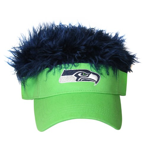 NFL Seattle Seahawks Flair Hair Adjustable Visor, Light Green at Amazon.com
