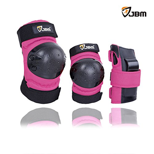 JBM Inline & Roller Skate Protective Gear for Multi Sport Skateboarding, Scootering, Bmx, Biking, Cycling (Purple, Youth)