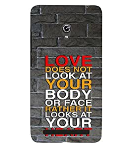 printtech Love Quotes Back Case Cover for Asus Zenfone 6::Asus Zenfone 6 A600CG